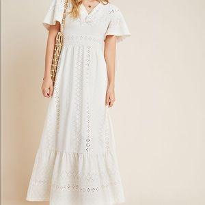 NEW ANTHROPOLOGIE EYELET MAXI DRESS Rochel Dress